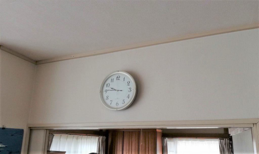 エアコン設置前の壁